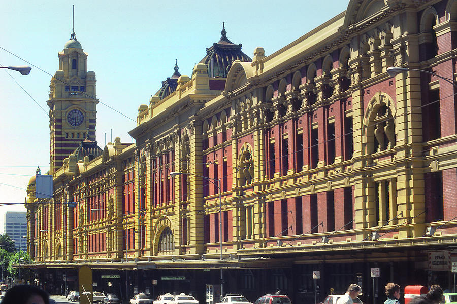 Flinders Street Rail Station by Jerry Griffin