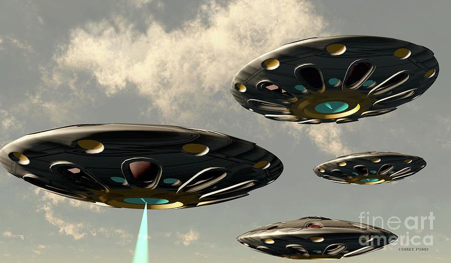 Flying Saucers Digital Art