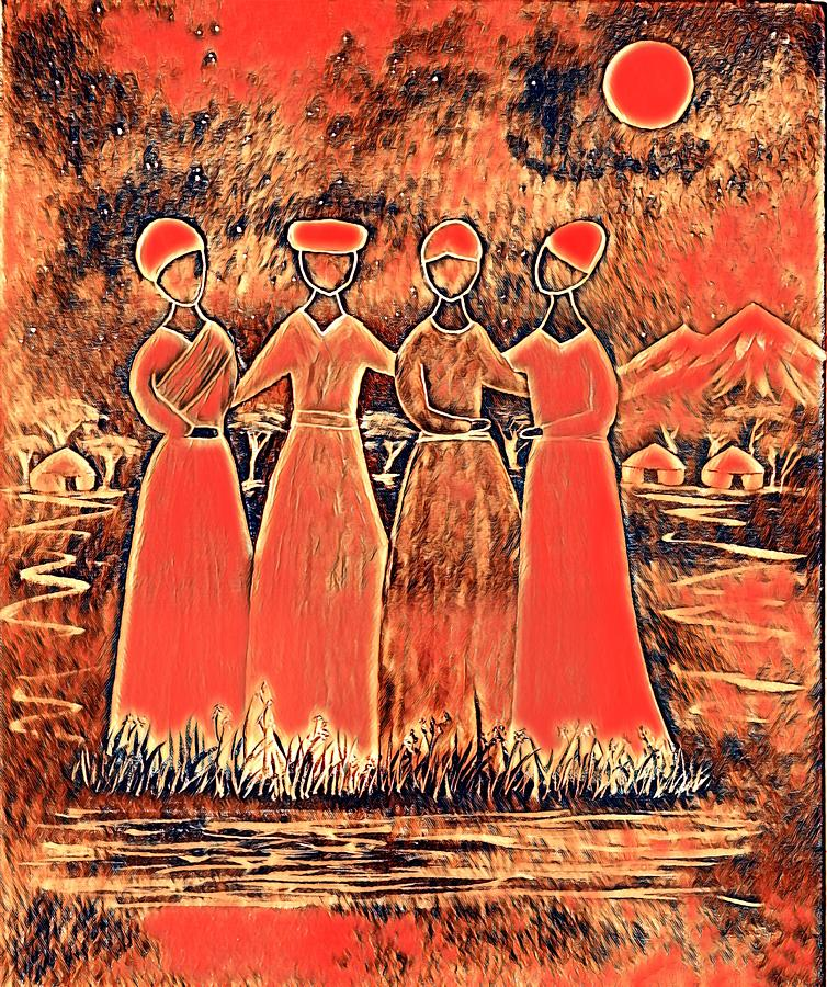 Four Sisters Digital Art
