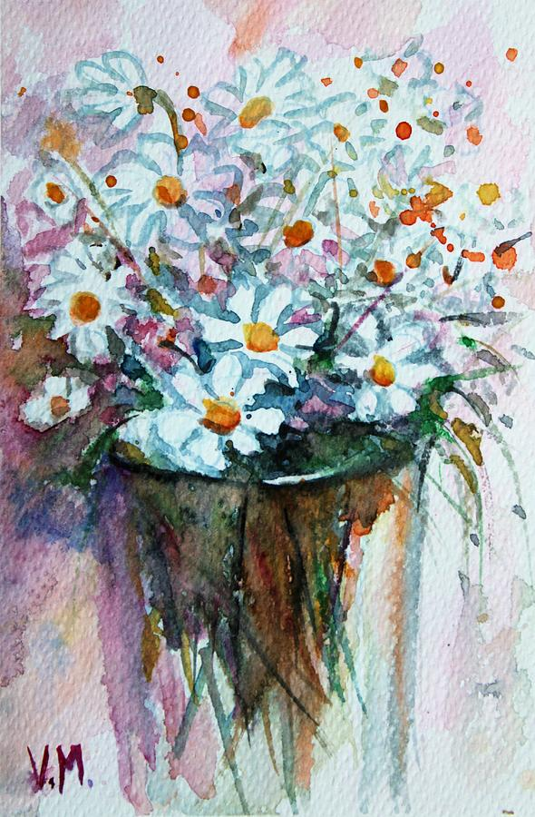 White Fragrant Bouquet Painting