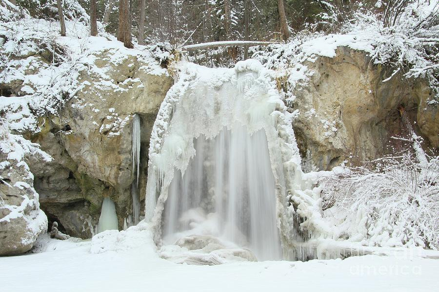 Water Falls Photograph - Frozen Falls by Roland Stanke