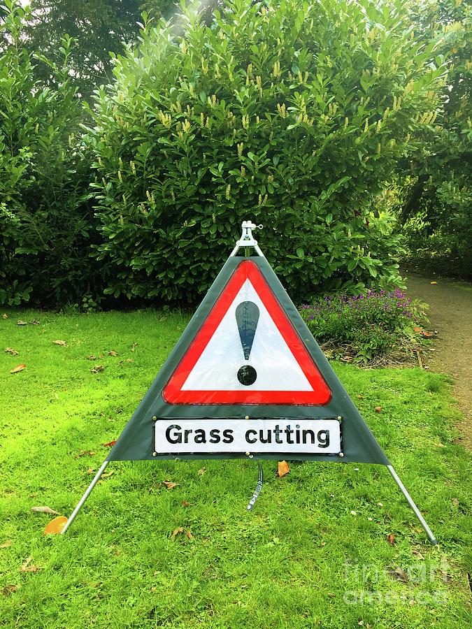 Advisory Photograph - Garden Warning Signs by Tom Gowanlock