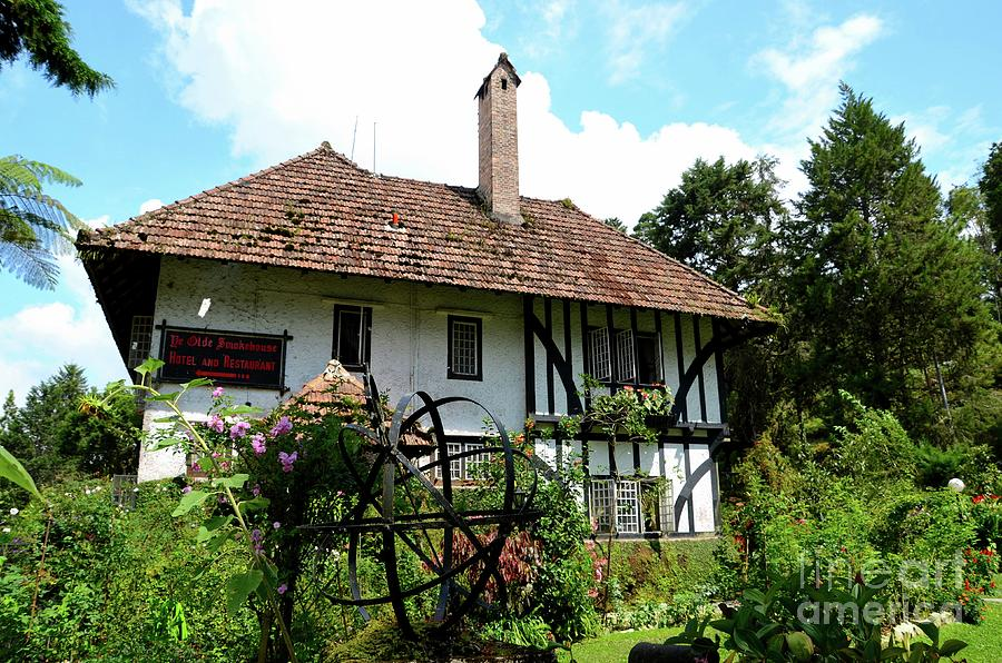 Gardens And English Colonial Tudor Bungalow Cottage Now Boutique Hotel Cameron Highlands Malaysia Photograph