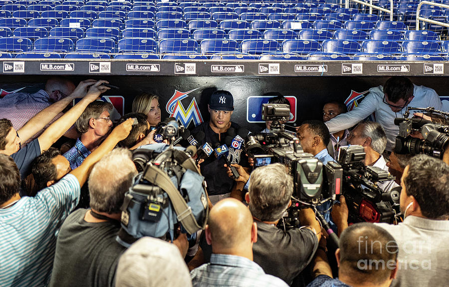 Giancarlo Stanton Photograph by Mark Brown