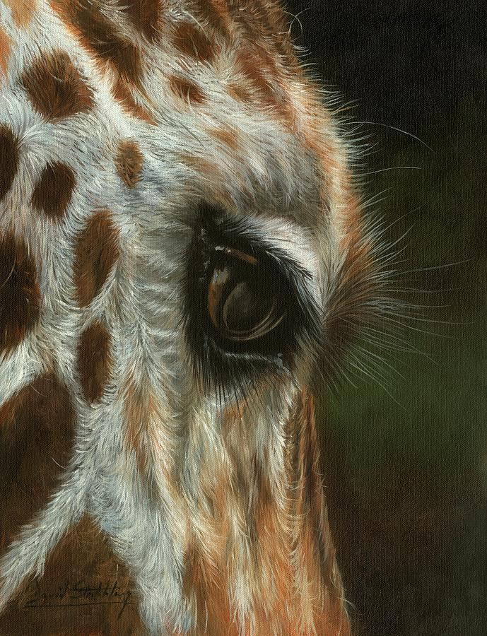 Giraffe Portrait Painting