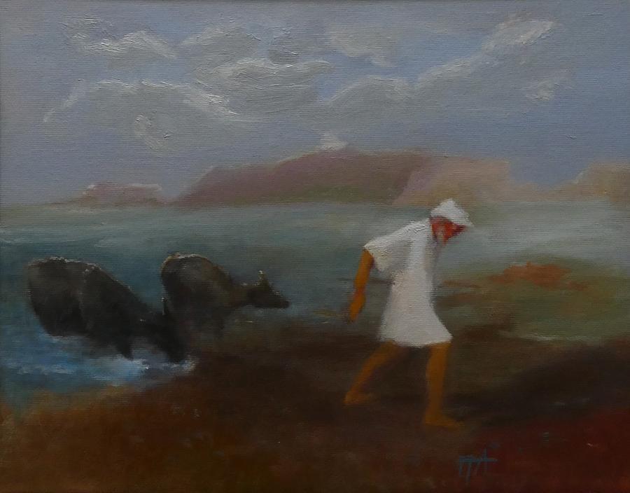 Man Painting - Good Buy by Irena Jablonski