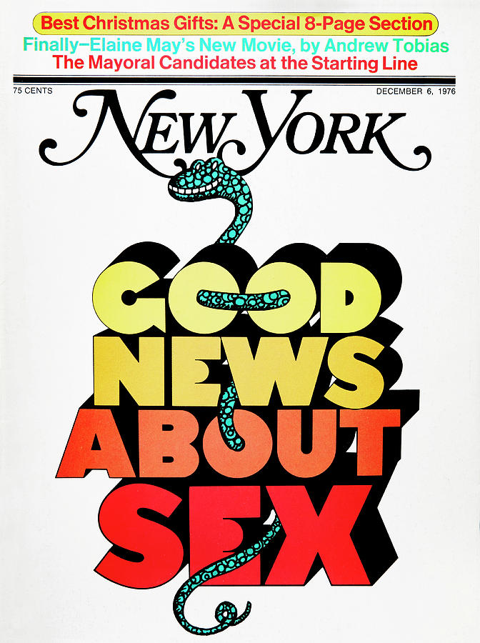 Milton Glaser Drawing - Good News About Sex by Milton Glaser
