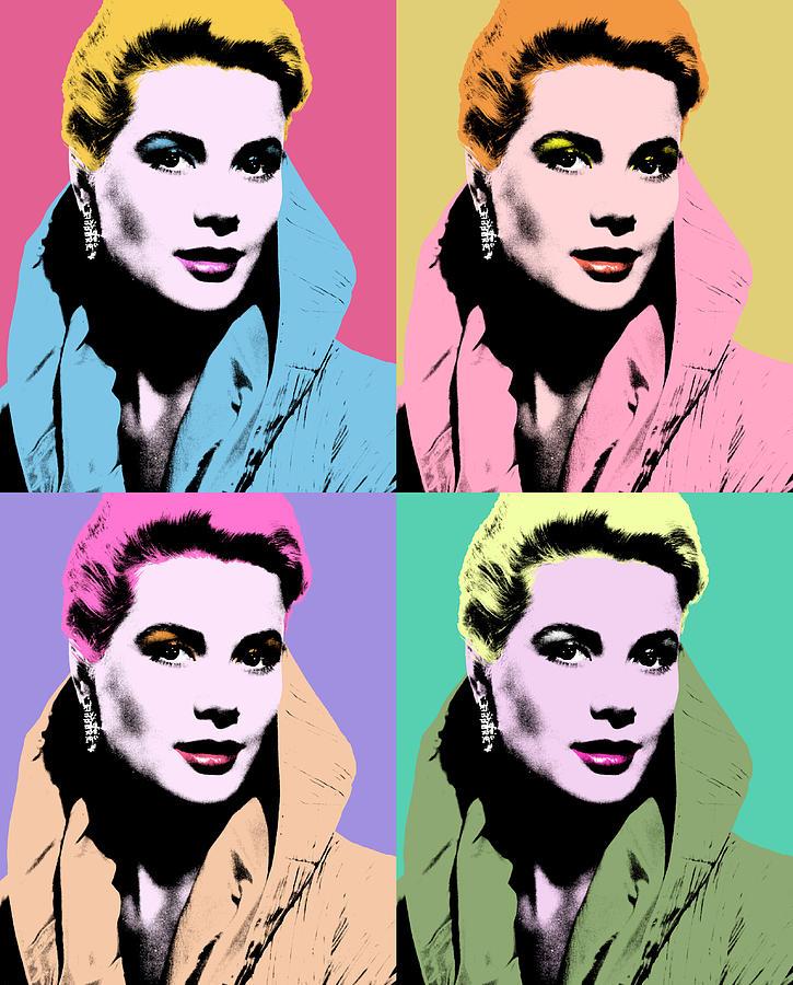 Grace Kelly Pop Art Mixed Media