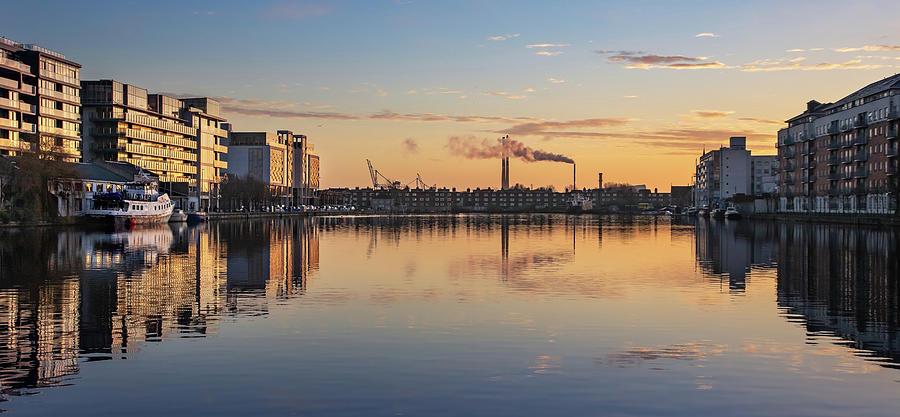 Dublin Photograph - Grand Canal Dock at Dawn - Dublin by Barry O Carroll
