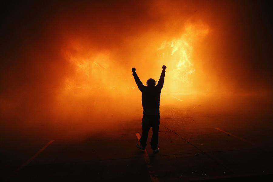 Grand Jury Decision Reached In Ferguson Shooting Case Photograph by Scott Olson