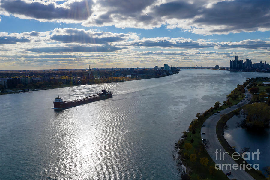 Great Lakes Freighter Photograph