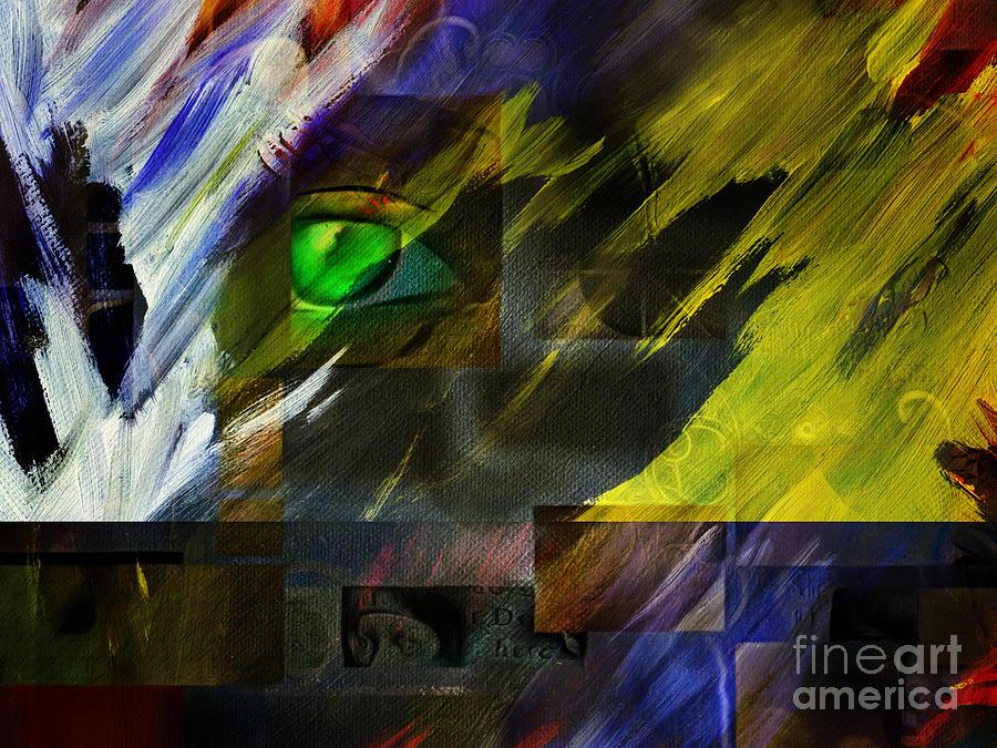 Green Eye Abstract Digital Art