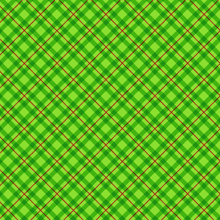 Green Painting - Green Plaid Pattern - Art by Jen Montgomery by Jen Montgomery