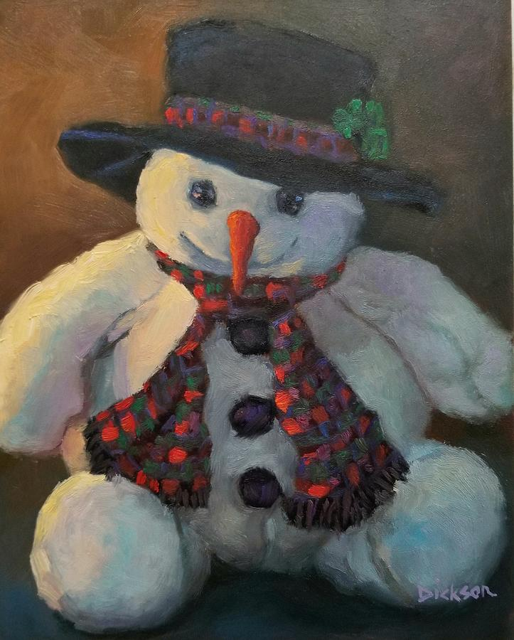 Grinning Snowman by Jeff Dickson