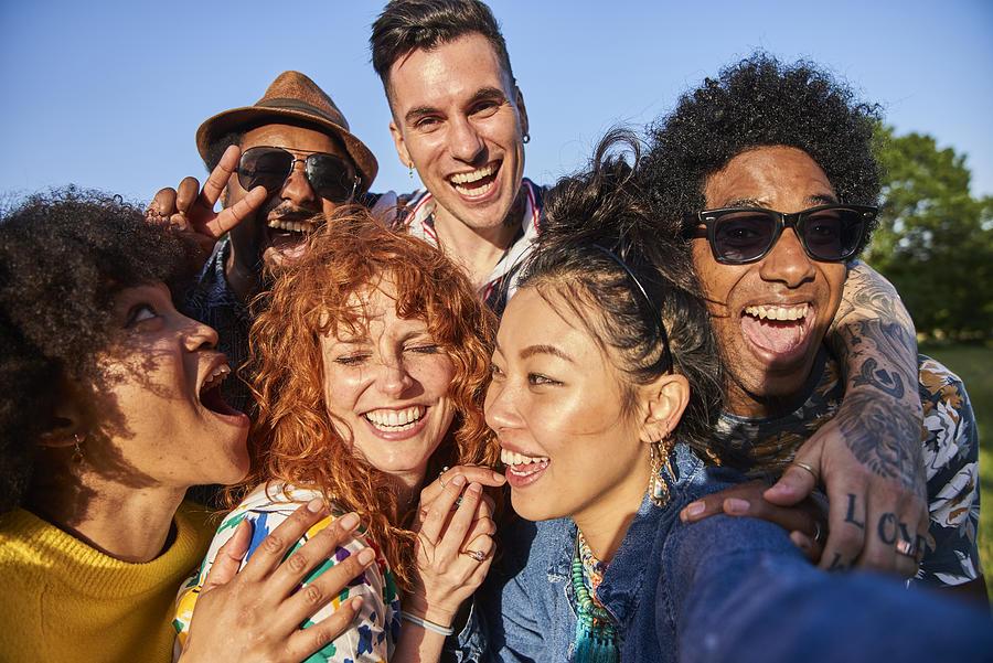 Group of friends having fun Photograph by Flashpop