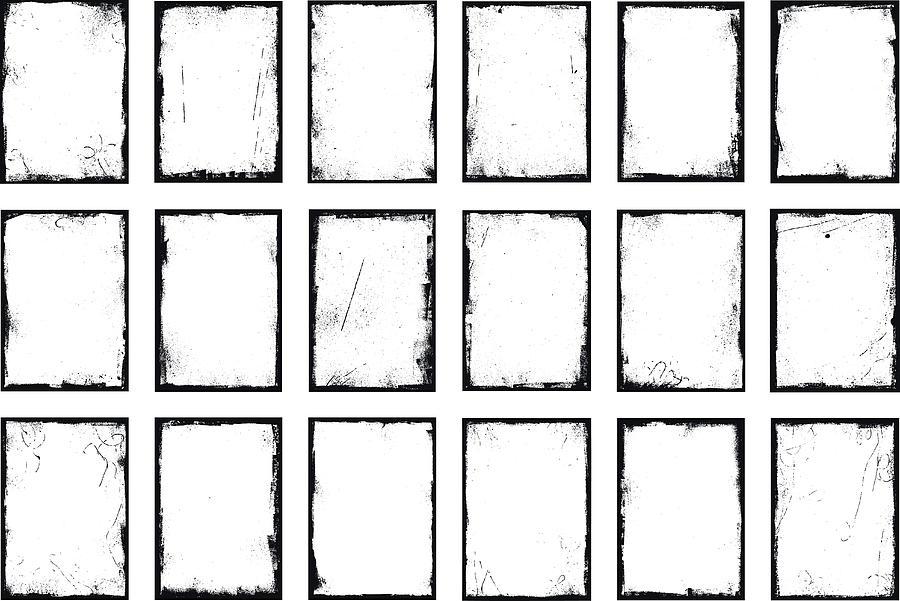 Grunge border frames Drawing by Stefan_Alfonso