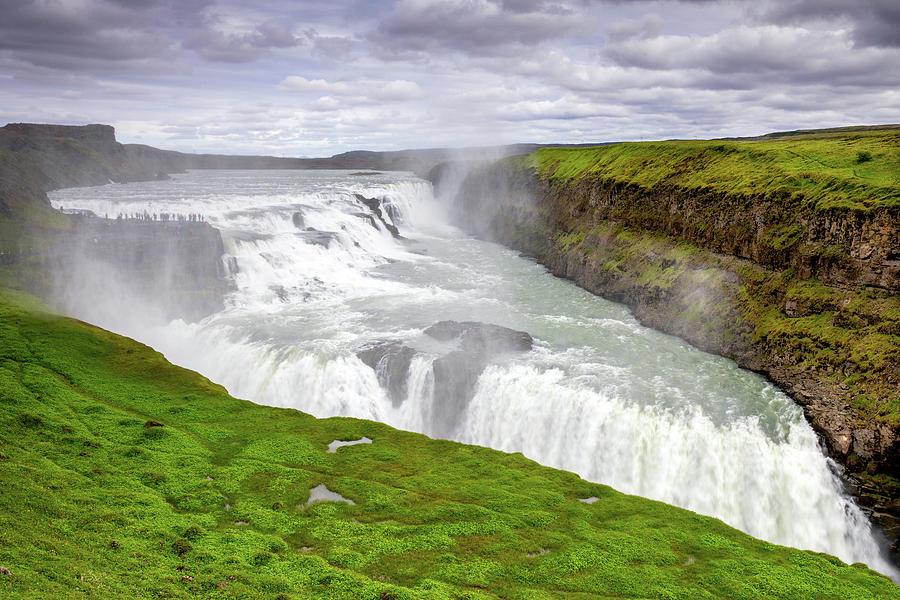 Gullfoss Waterfall In Southwest Iceland Photograph By Peter Mundy
