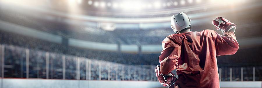 Happy ice hockey player Photograph by Dmytro Aksonov