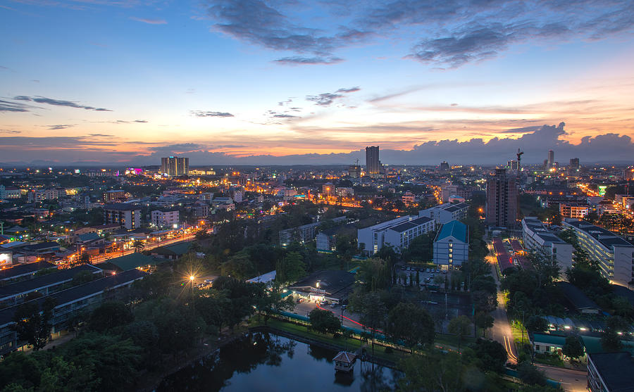 Hatyai city,Songkhla,Thailand Photograph by Thasu Thientumrongsuk