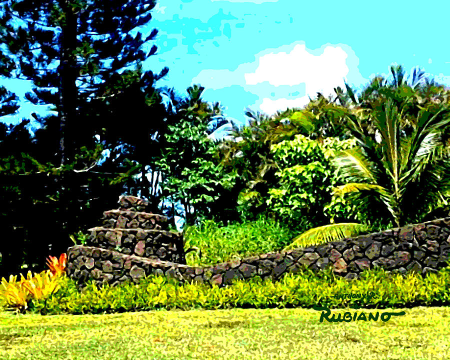 Hawaiian Landscape Scene 1 Photograph By Anthony R Rubiano
