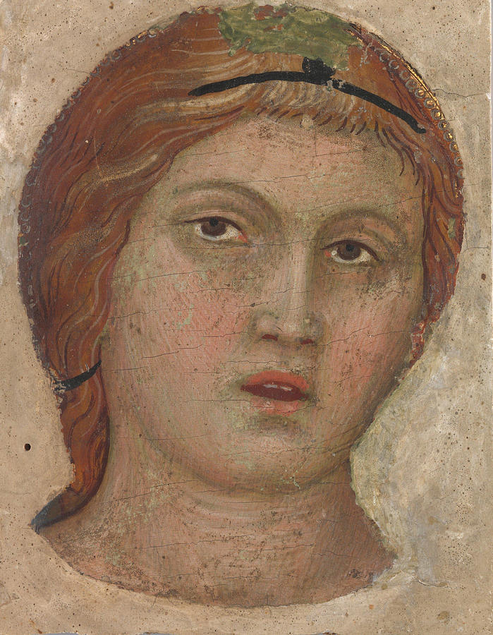 Head of an Angel in Full Face by Taddeo di Bartolo