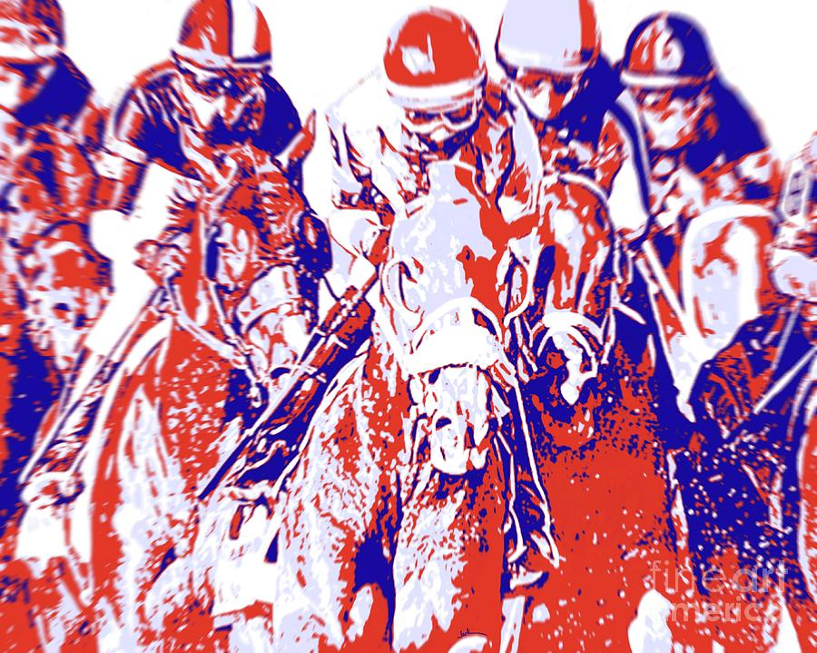 Horse Racing Painting - Horse Racing 2021 by Jack Bunds