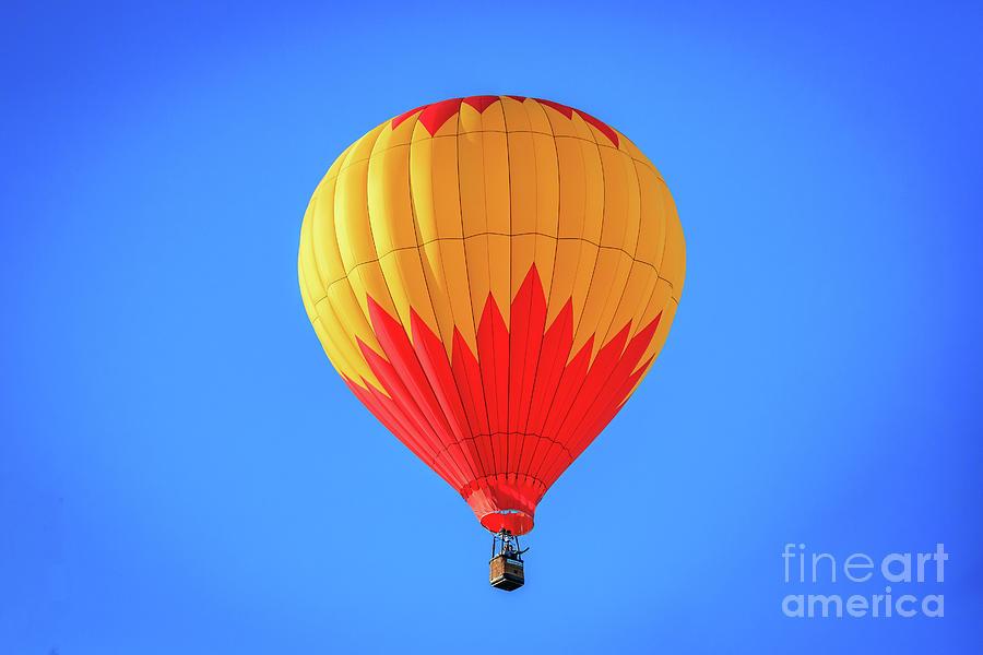 Hot Air Ballons Over Oklahoma City Photograph