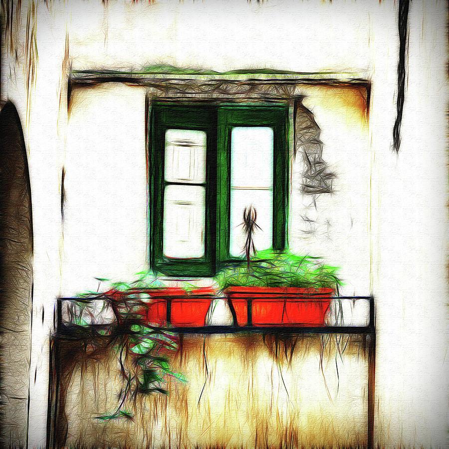 House Window In Salina, Digital Art Photograph