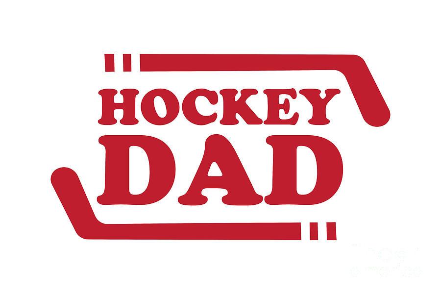Ice Hockey Dad Digital Art
