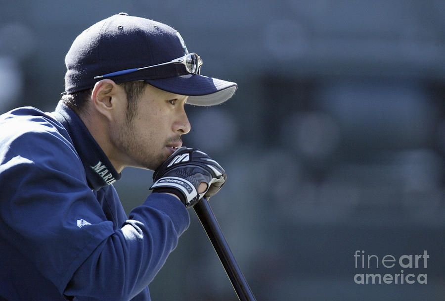 Ichiro Suzuki Photograph by Otto Greule Jr
