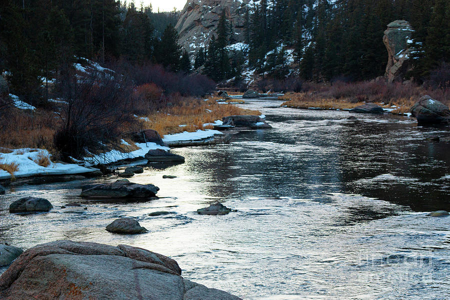 Icy Waters Of The South Platte River Photograph
