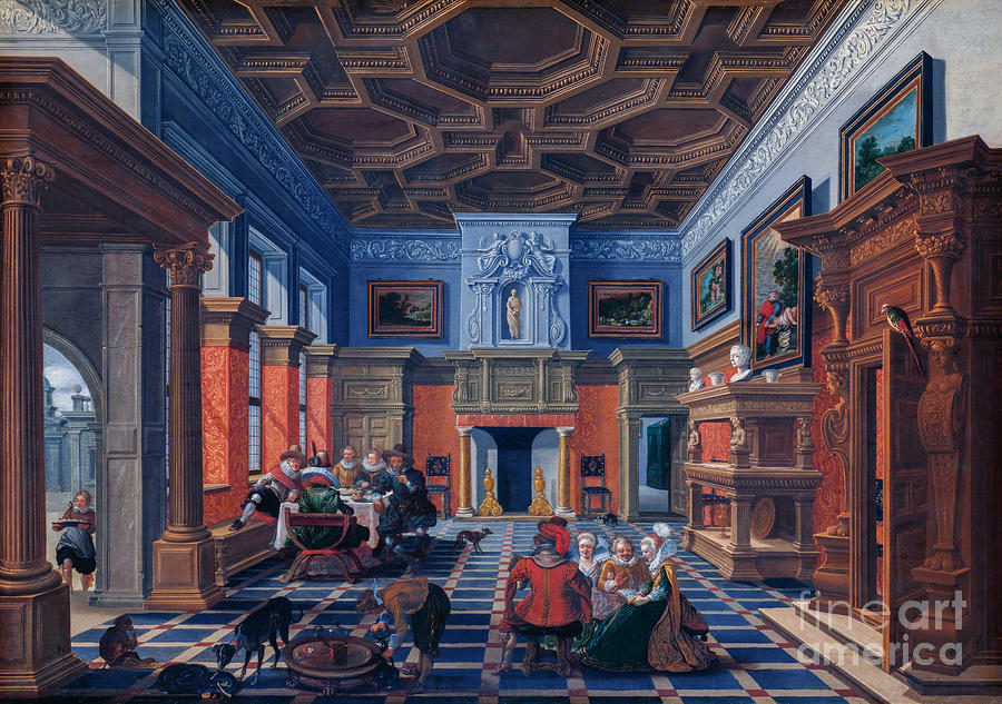 Interior With A Company Painting
