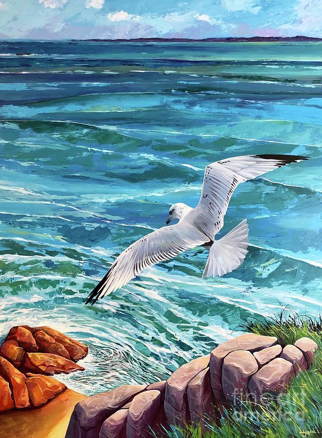 Coastal Painting - Into the Wild by Hunter Jay