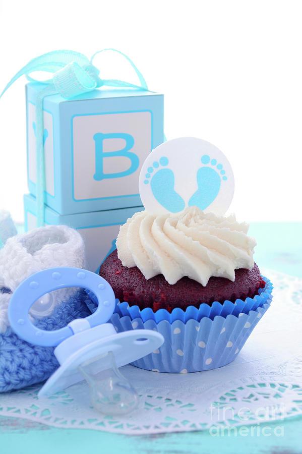 Spiksplinternieuw Its a Boy Blue Baby Shower Cupcakes Photograph by Milleflore Images BN-27