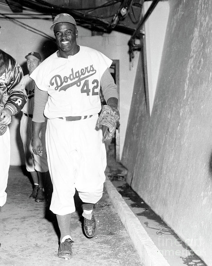 Jackie Robinson Photograph by Kidwiler Collection