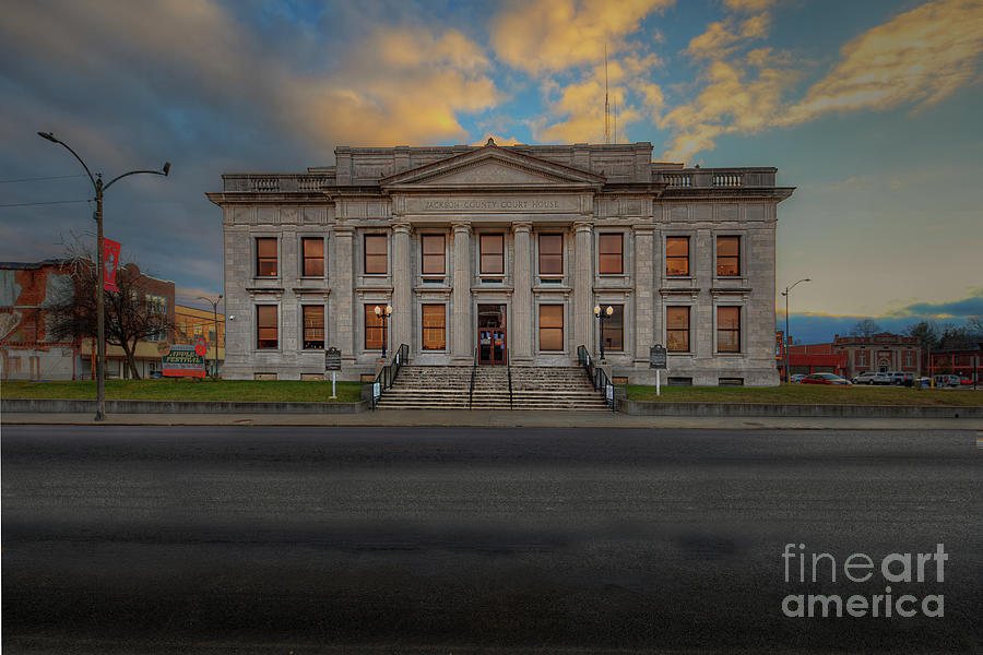 Hdr Photograph - Jackson Illinois County Courthouse  by Larry Braun