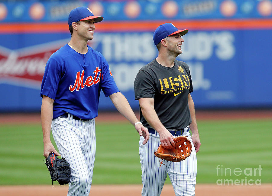 Jacob Degrom and David Wright Photograph by Paul Bereswill