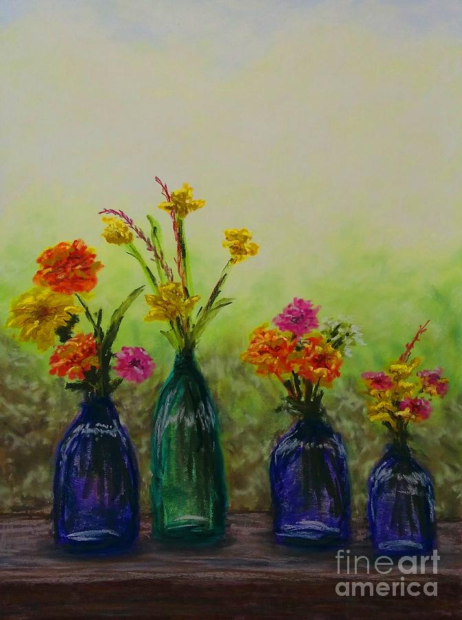 Jars on a Rail by Lisa Bliss Rush