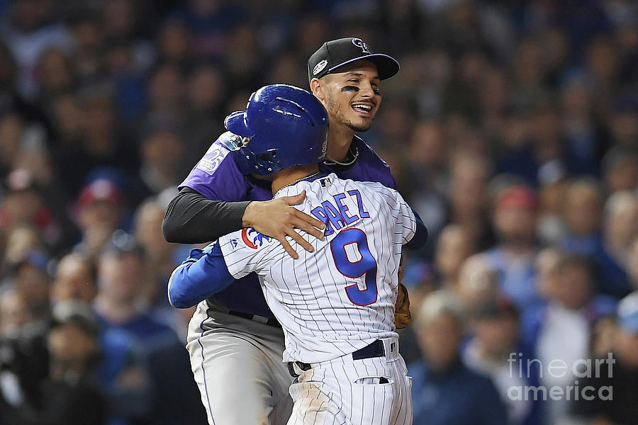 Javier Baez and Nolan Arenado Photograph by Stacy Revere