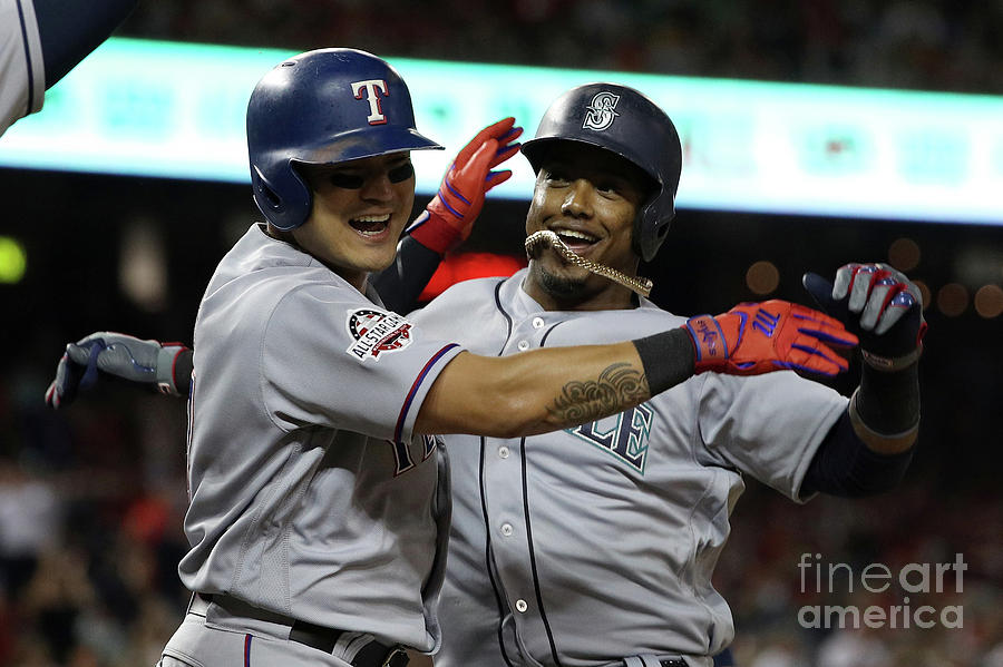 Jean Segura and Shin-soo Choo Photograph by Patrick Smith