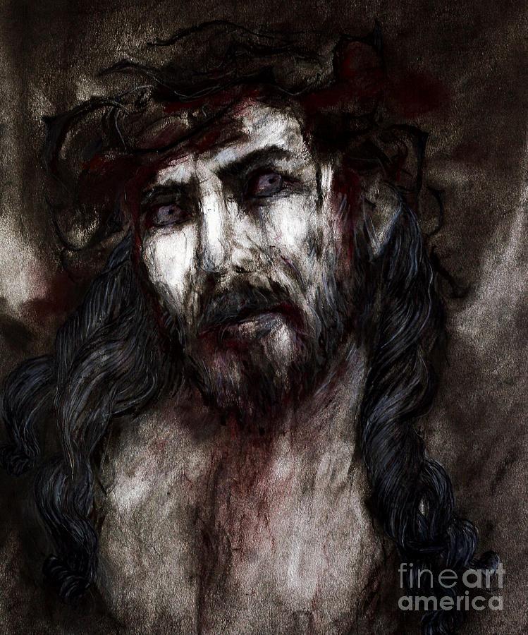 Jesus Drawing - Jesus by Jenni Mitkovic