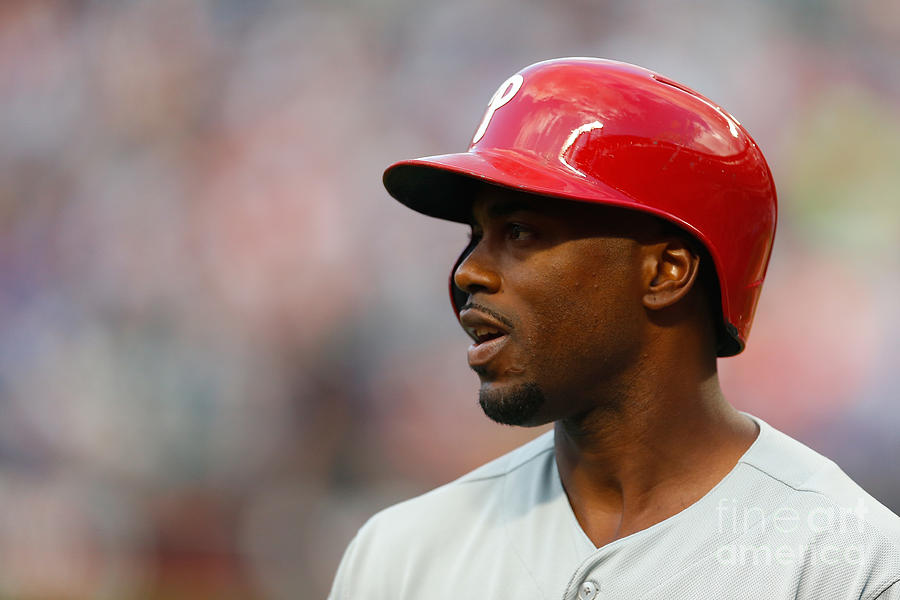 Jimmy Rollins Photograph by Mike Stobe