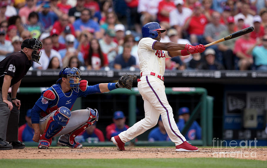 Jimmy Rollins Photograph by Mitchell Leff