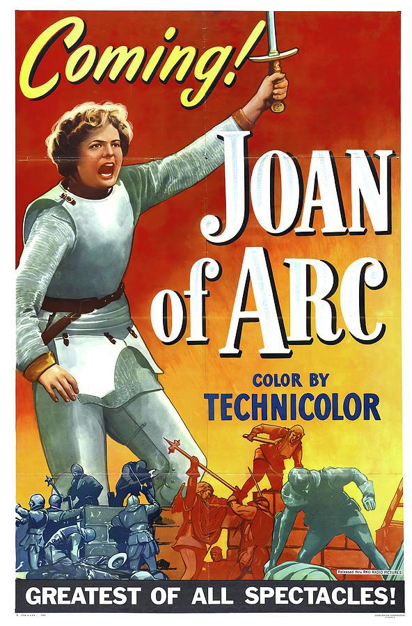 joan Of Arc, With Ingrid Bergman, 1948 Mixed Media