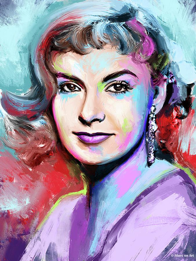 Joanne Painting - Joanne Woodward by Stars on Art