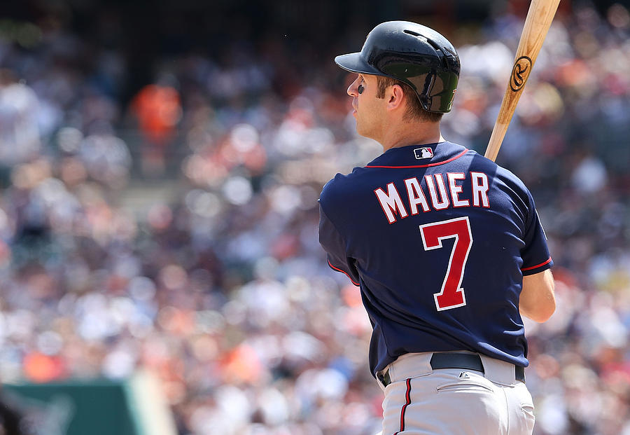 Joe Mauer Photograph by Leon Halip