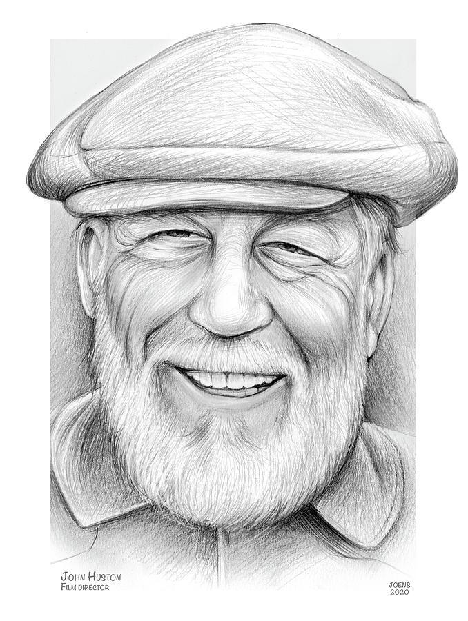 John Huston Drawing - john Huston by Greg Joens