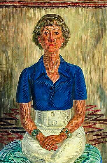 John Sloan Portrait Of Amelia Elizabeth White 1934 Painting