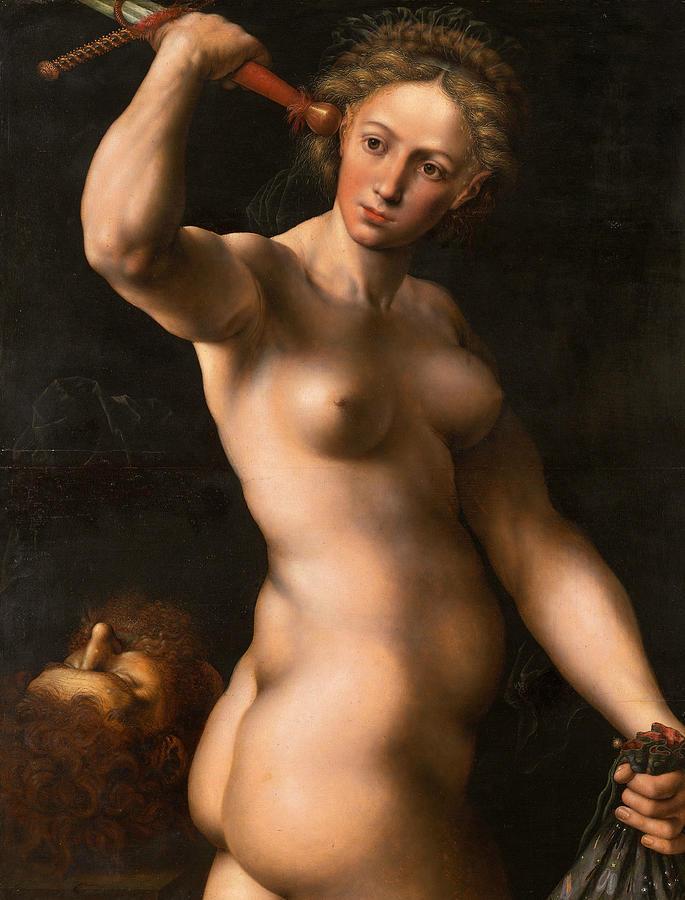 Flemish Painters Painting - Judith by Jan Sanders van Hemessen