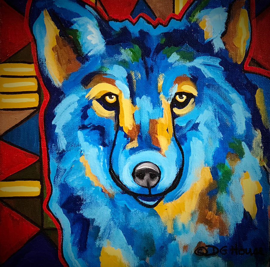 Wolf Painting - Just One Look by DG House